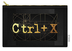 Carry-all Pouch featuring the digital art Control X - Cut by Serge Averbukh