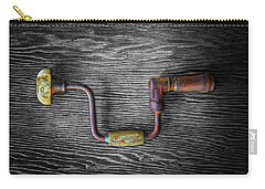 Tools On Wood 61 On Bw Carry-all Pouch by YoPedro