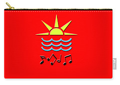 Sun, Sea And Music Carry-all Pouch by Linda Prewer