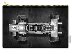 Carry-all Pouch featuring the photograph Schuco Matra Ford Top Bw by YoPedro
