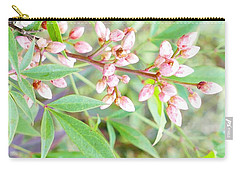 Pale Powder Pink Plant Carry-all Pouch