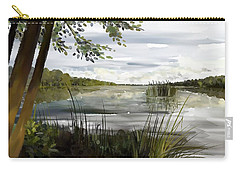Carry-all Pouch featuring the painting Quiet Day By Lake by Ivana Westin