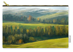 Carry-all Pouch featuring the painting Rich Landscape by Ivana Westin