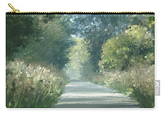Carry-all Pouch featuring the pastel The Road Back Home by Ivana Westin
