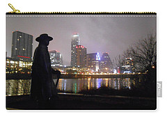Austin Hike And Bike Trail - Iconic Austin Statue Stevie Ray Vaughn - One Carry-all Pouch by Felipe Adan Lerma