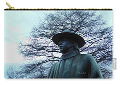 Austin Hike And Bike Trail - Iconic Austin Statue Stevie Ray Vaughn - Two Carry-all Pouch by Felipe Adan Lerma
