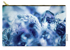 Carry-all Pouch featuring the photograph Amethyst Blue by Sharon Mau