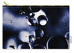 Carry-all Pouch featuring the photograph deep purple blue tones Macro Water Droplets by Sharon Mau