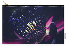 Carry-all Pouch featuring the photograph Passiflora Alata - Winged Stem Passion Flower - Ruby Star - Ouva by Sharon Mau