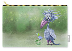 Carry-all Pouch featuring the painting Beauty Is Subjective by Ivana Westin
