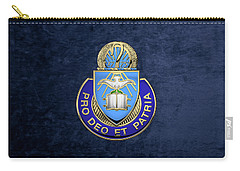 U. S. Army Chaplain Corps - Regimental Insignia Over Blue Velvet Carry-all Pouch