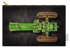 John Deere Top On Black Carry-all Pouch by YoPedro