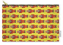 Red Tin Toy Robot Pattern Carry-all Pouch by YoPedro