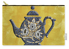 Tulips And Willow Pattern Teapot Carry-all Pouch