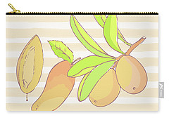 Mango Ohana Tropical Hawaiian Design Of Fruit And Family Carry-all Pouch by Tina Lavoie
