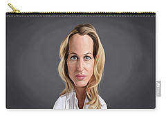 Celebrity Sunday - Gillian Anderson Carry-all Pouch by Rob Snow