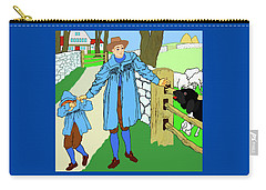 Baa, Baa, Black Sheep Nursery Rhyme Carry-all Pouch by Marian Cates