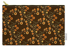 Autumn Flower Explosion Carry-all Pouch by Methune Hively