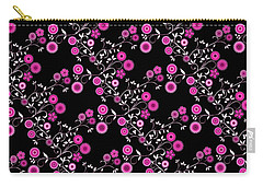 Pink Floral Explosion Carry-all Pouch by Methune Hively