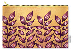 Abstract Plant With Pointy Leaves In Purple And Yellow Carry-all Pouch