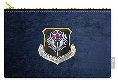 Air Force Special Operations Command -  A F S O C  Shield Over Blue Velvet Carry-all Pouch by Serge Averbukh