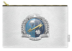 U. S.  Air Force Combat Control Teams - Combat Controller C C T Badge Over White Leather Carry-all Pouch by Serge Averbukh