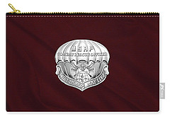 U. S.  Air Force Combat Rescue Officer - C R O Badge Over Maroon Felt Carry-all Pouch by Serge Averbukh