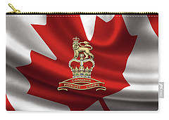 Canadian Provost Corps - C Pro C Badge Over Canadian Flag Carry-all Pouch by Serge Averbukh
