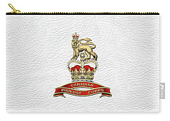 Canadian Provost Corps - C Pro C Badge Over White Leather Carry-all Pouch by Serge Averbukh