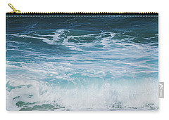 Carry-all Pouch featuring the photograph Ocean Waves From The Depths Of The Stars by Sharon Mau