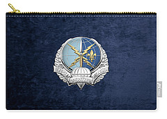 Special Operations Weather Team -  S O W T  Badge Over Blue Velvet Carry-all Pouch by Serge Averbukh