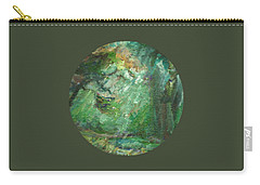 Carry-all Pouch featuring the painting Rainy Woods by Mary Wolf