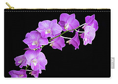 Vivid Purple Orchids Carry-all Pouch
