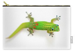 Carry-all Pouch featuring the photograph Green Gecko by Denise Bird