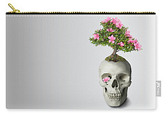 Carry-all Pouch featuring the painting Bonsai Skull by Ivana Westin