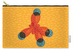 Orange Methane Molecule Carry-all Pouch