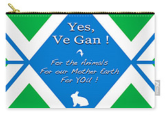 Official Vegan Flag - Yes, Ve Gan Carry-all Pouch