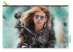Steven Tyler On A Bike Carry-all Pouch