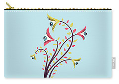 Flowers Of Watching Eyes Carry-all Pouch