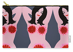 Flower Power - Pink Carry-all Pouch