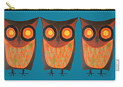 Give A Hoot Orange Owl Carry-all Pouch