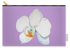 Carry-all Pouch featuring the digital art Orchid On Lilac by Elizabeth Lock