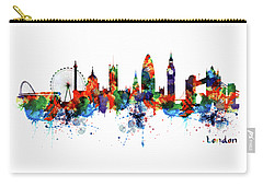 London Watercolor Skyline Silhouette Carry-all Pouch