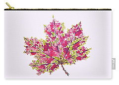 Colorful Watercolor Autumn Leaf Carry-all Pouch