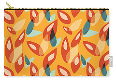 Orange Blue Yellow Abstract Autumn Leaves Pattern Carry-all Pouch