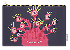 Funny Pink Monster With Eleven Eyes Carry-all Pouch