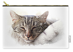 Cat And Snow Carry-all Pouch