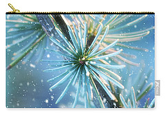 Blue Atlas Cedar Winter Holiday Card Carry-all Pouch