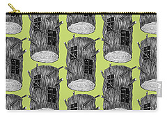 Tree Log With Mysterious Forest Creatures Carry-all Pouch