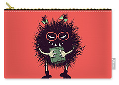 Geek Evil Bug Character Loves Reading Carry-all Pouch